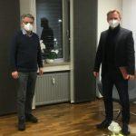 Landtagskandidat Tobias Herrmann im Dialog mit dem Einzelhandel